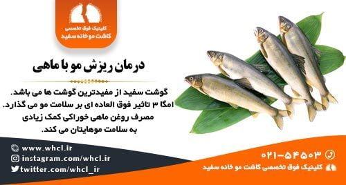 درمان ریزش مو با ماهی