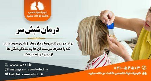 راه درمان شپش سر